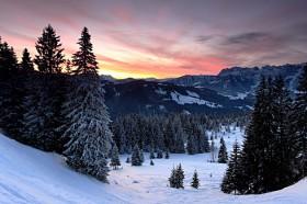 Wintermorgen in den Bergen