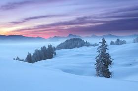 Wintermorgen in den Chiemgauer Bergen
